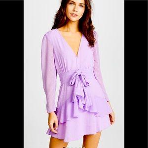 NWT: For Love & Lemons sz xs Tarta Sleeved Dress